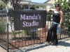 manda's studio sign